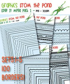 These are the best! Edge It Mega Pack 1 -  100 Borders Great For Worksheet Edges!