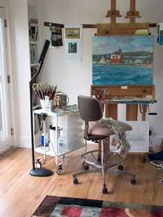 Kathleen Chaney Fritz artist studio