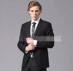 Handsome Plain Slinny Fit Suit For Wedding (Two Piece Set) : Tidebuy.com