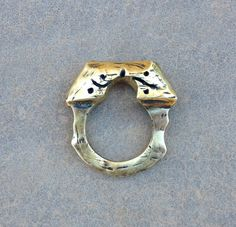 Gate to Medieval Garden solid brass or sterling by RingTheRing