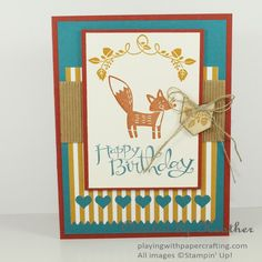 Playing with Papercrafting: Happy Birthday with Thankful Forest Friends for The Paper Players