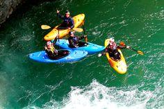 Tino Specht, Morgan Heimer, Wes McCue and Chris Morelli on the Rio Claro Fall 2013