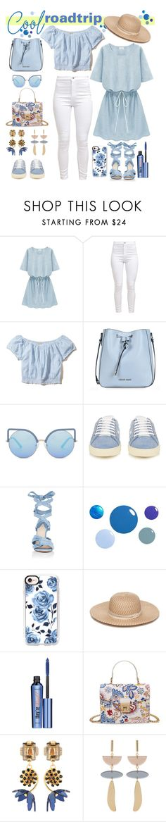 """""""Cool Roadtrio"""" by streetglamour on Polyvore featuring Hollister Co., Armani Jeans, Matthew Williamson, Yves Saint Laurent, Altuzarra, Casetify, Collection XIIX, Benefit, Marni and Isabel Marant"""