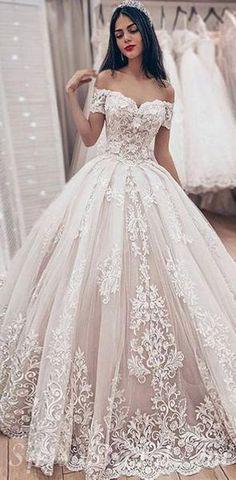 ec77a38502 Custom Off the Shoulder Lace Unique Deisgn High Quality Modest Long Popular  Wedding Dresses