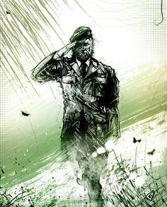 We salute all veterans and heroes of war... #snake #metalgear #solid #MGS