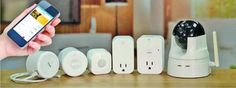 D Link's range of smart home tools — which include motion sensors, smart plugs and a camera.