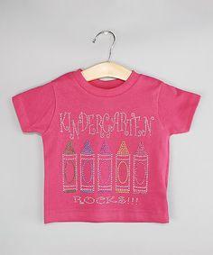 This Pink 'Kindergarten Rocks' Tee - Kids is perfect! #zulilyfinds