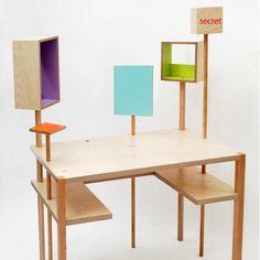 Matali Crasset's design for children includes this child's desk for Parisian store Balouga