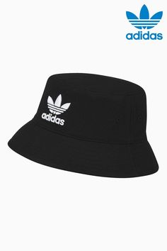 Buy adidas Originals Black Bucket Hat from the Next UK online shop Mode Adidas, Adidas Hat, Adidas Outfit, Nike Outfits, Adidas Snapback, Adidas Bucket Hat, Sunglasses Accessories, Fashion Accessories, Bucket Hat Outfit