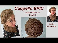 Basco EPIC facile e veloce Cappello da fare in 1 ora uncinetto facile - YouTube Sunburst Granny Square, Photo Pattern, Beret, Crochet Hats, Knitting, How To Make, Handmade, Capellini, Youtube