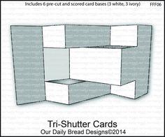 Tri shutter fancy fold card - Our daily bread
