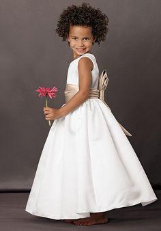 Cheapest Refined White Scoop Sash Bowknot Ball Gown Ankle Length Flower Girl Dress Online