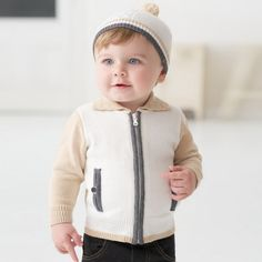 Boys cotton knit cardigan – ukookoo Classic Outfits, Knit Cardigan, Little Boys, Boy Outfits, Knits, Toddlers, Babies, Knitting, Stylish