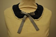 velvet collar with crocheted silk trimmings by Minus Sun