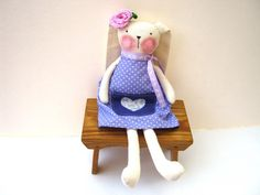 SALE Fabric bunny Stuffed bunny plush bunny doll-cute by LyuToys