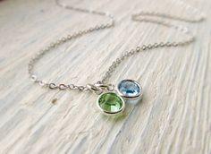 Mother Birthstone Necklace Mom Jewelry Mothers Jewelry by IrinSkye