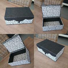 Nénette de St jean de Cornies a réalisé cette jolie boîte chantourné aimanté très chic! Cette bo
