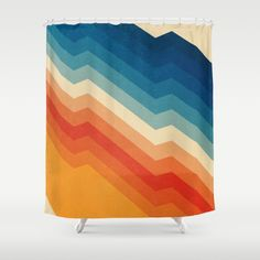 Buy Shower Curtains featuring Barricade by Tracie Andrews. Made from easy care polyester our designer shower curtains are printed in the USA and feature a 12 button-hole top for simple hanging.