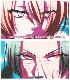 Love Stage ~~ Ah, the intensity in their eyes as they discuss arousal is wonderful! ::  Izumi and Rei