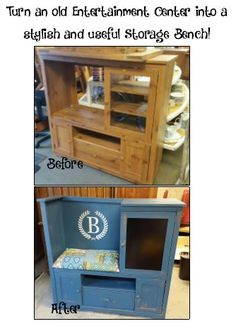 Have an old entertainment center you don't use? Why not change it into a useful…