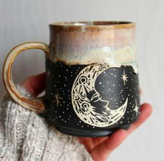 Photos Ceramics cup coffee Ideas mystical earthenware mug with a moon design Most current Photos Ceramics cup coffee Ideas mystical earthenware mug with a moon design Pottery carves a sgraffito bear mug. Galaxy Mug With Gold by Naomi Singer Modern Mud Diy Décoration, Cute Mugs, Ceramic Pottery, Pottery Barn, Ceramic Art, Decoration, Tea Cups, Coffee Mugs, Creations