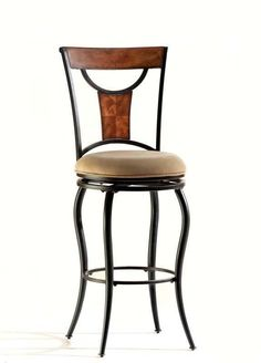 Hillsdale Pacifico Swivel 26 Inch Counter Stool in Black w/ Cooper Highlights 4137-826