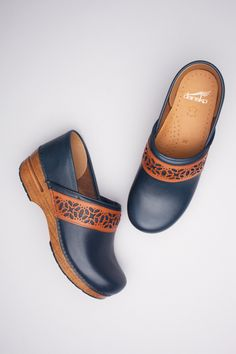 Pavan Navy Full Grain from the Stapled Clog Collection