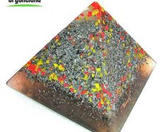 Orgone Energy Pyramid Device - Hand made Orgonite Art - Orgone Quartz Crystals - EMF Blocker - FREE Shipping - FREE Gift