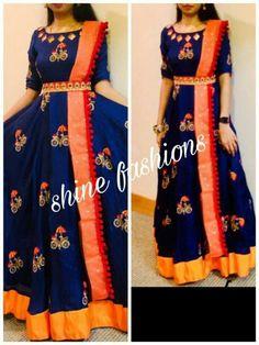 Half Saree Designs, Lehenga Designs, Kurta Designs, Saree Blouse Designs, Party Wear Indian Dresses, Gown Party Wear, Indian Gowns Dresses, Mommy Daughter Dresses, Mother Daughter Dresses Matching