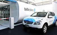 better place's battery switch station for the world's first electric car with a switchable battery.  It takes less than 5 minutes to switch!  The car owner doesn't own the battery, which reduces the price of the car .... check it out.  First large scale development is taking place in Israel and Denmark, with projected developments in Australia and Hawaii.