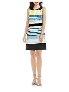 Vince Camuto - Striped Harmony Shift Dress