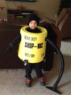 Our Shop-Vac Halloween costume!!!