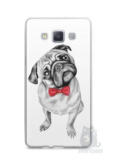 Capa Capinha Samsung A7 2015 Cachorro Pug Estiloso #2 - SmartCases - Acessórios para celulares e tablets :)