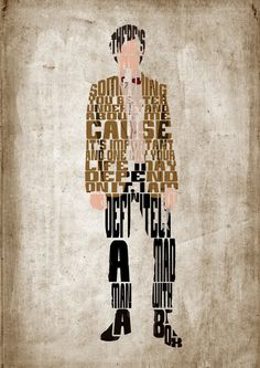Eleventh Doctor, Doctor Who, Matt Smith Poster  - Minimalist Typography Poster, Movie Poster, Art Print, Illustration, Wall Art