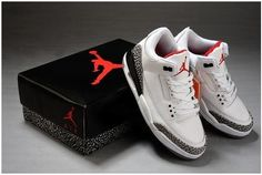 0ac90743d633 Air Jordan 3 Retro White Fire Red-Cement Grey-Black 2011 For Sale