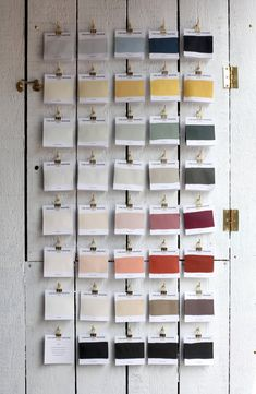 The Hackney Draper Paint Samples An overview of the 20 new colors for fall. Best Paint Colors, Interior Paint Colors, Painted Boards, Painted Paper, Paint Samples, Fabric Samples, Paint Swatches, Fabric Swatches, Showroom Interior Design