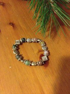 Celtic Charm Bracelet - Irish Celtic Charm Bracelet Vintage Green and Purple Gemstones Silver Celtic Designs by SageandDeesVintage #TrendingEtsy