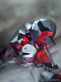 Proustite from Buismas, Morocco