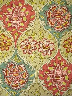 "Kings Turban Jewel-  Waverly Fabric, 100% cotton, heavy slub duck fabric, prefect for, upholstery fabric, drapery fabric, slipcover fabric, top of the bed fabric or any home décor project. Repeat; V 25.25 x H 18"". 54"" wide. Made in U.S.A."