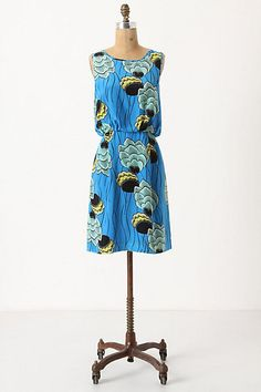 Colors! This looks super comfortable and could be worn with flats or heals, casual or dressy. Anthropologie knows how to make a great dress.