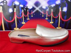 Womens shoes DETAILS Gold Leather Slip-on Flats Slides Slippers Loafers sz 11 M #LoafersMoccasins