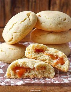 Ciasteczka z krówkami Cookie Recipes, Snack Recipes, Dessert Recipes, Snacks, Sweet Little Things, Good Food, Yummy Food, Polish Recipes, Vegan Cake