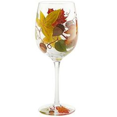 Harvest Leaves Goblet ~ LOVE This!  Really want a couple for wine in the Fall evenings...SRG