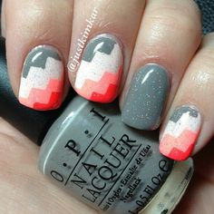 Colour block nails
