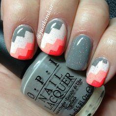 Colour block nails