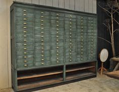 1950 Industrial Painted Chest of Drawers @ EspaceNordOuest