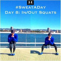 #SweatADay Day 8: In/Out Squats #IWILL @Under Armour