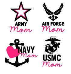 Military Mom - Army Mom, Air Force Mom, Navy Mom, Marine Mom- Vinyl Decal on Etsy, $7.00