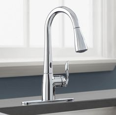 Motion sense faucets for the kitchen are so useful. The Moen Arbor single handle motion sense faucet would be a valuable addition to your kitchen. Faucets Moen 7594EC