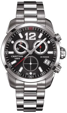 Certina Men s Watch Xs Certina Ds Rookie Chronograph Stainless Steel C016. 417.11.057.00 Cool adb6d4eb25